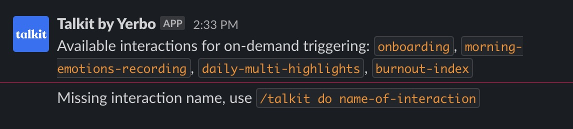 New: Trigger Features With Slack's Commands